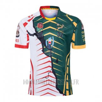Maillot Afrique Du Sud Angleterre Rugby RWC 2019 Campeona