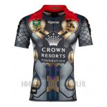 Maillot Melbourne Storm Thor Marvel Rugby 2017 Jaune