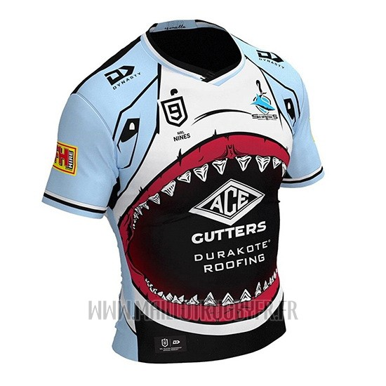 Maillot Cronulla Sutherland Sharks 9s Rugby 2020 Bleu